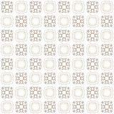 Seamless texture with 3D rendering abstract fractal brown pattern. On a white background for fabric design Stock Photo