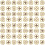 Seamless texture with 3D rendering abstract fractal brown pattern. On a white background for fabric design Stock Photography