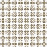 Seamless texture with 3D rendering abstract fractal brown pattern. On a white background for fabric design Stock Image