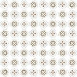 Seamless texture with 3D rendering abstract fractal brown pattern. On a white background for fabric design Royalty Free Stock Image