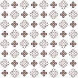 Seamless texture with 3D rendering abstract fractal brown pattern Stock Photo