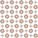 Seamless texture with 3D rendering abstract fractal brown pattern Royalty Free Stock Photo