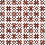 Seamless texture with 3D rendering abstract fractal dark red pattern Royalty Free Stock Photos