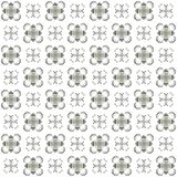 Seamless texture with 3D rendering abstract fractal gray pattern. On a white background for fabric design Stock Photography