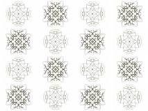 Seamless texture with 3D rendering abstract fractal gray pattern Royalty Free Stock Image