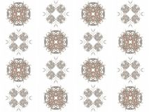 Seamless texture with 3D rendering abstract fractal gray pattern Stock Photos