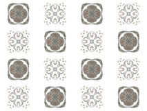 Seamless texture with 3D rendering abstract fractal gray pattern Royalty Free Stock Photography