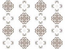Seamless texture with 3D rendering abstract fractal gray pattern Stock Photo