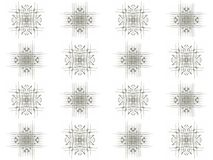 Seamless texture with 3D rendering abstract fractal gray pattern Stock Image