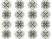 Seamless texture with 3D rendering abstract fractal gray pattern Royalty Free Stock Images