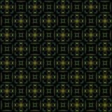 Seamless texture with 3D rendering abstract fractal green pattern. On a black background for fabric design Royalty Free Stock Photography