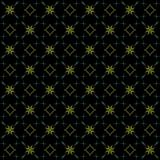 Seamless texture with 3D rendering abstract fractal green pattern. On a black background for fabric design Stock Images
