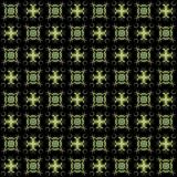 Seamless texture with 3D rendering abstract fractal green pattern. On a black background for fabric design Stock Photo