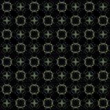 Seamless texture with 3D rendering abstract fractal green pattern. On a black background for fabric design Royalty Free Stock Images