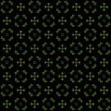 Seamless texture with 3D rendering abstract fractal green pattern. On a black background for fabric design Royalty Free Stock Photo
