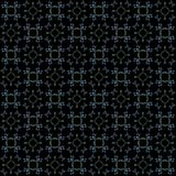 Seamless texture with 3D rendering abstract fractal green pattern. On a black background for fabric design Stock Image