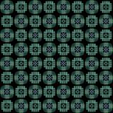 Seamless texture with 3D rendering abstract fractal green pattern. On a black background for fabric design Stock Photos