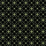 Seamless texture with 3D rendering abstract fractal green pattern. On a black background for fabric design Royalty Free Stock Photos