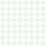 Seamless texture with 3D rendering abstract fractal green pattern. On a white background for fabric design Stock Photos