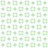 Seamless texture with 3D rendering abstract fractal green pattern. On a white background for fabric design Royalty Free Stock Photo