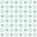 Seamless texture with 3D rendering abstract fractal green pattern. On a white background for fabric design Stock Images