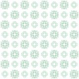 Seamless texture with 3D rendering abstract fractal green pattern. On a white background for fabric design Royalty Free Stock Photography
