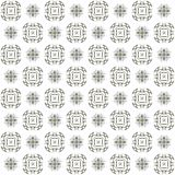 Seamless texture with 3D rendering abstract fractal green pattern. On a white background for fabric design Stock Image