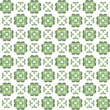 Seamless texture with 3D rendering abstract fractal green pattern. On a white background for fabric design Royalty Free Stock Images