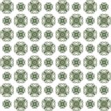 Seamless texture with 3D rendering abstract fractal green pattern. On a white background for fabric design Royalty Free Stock Image