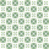 Seamless texture with 3D rendering abstract fractal green pattern. On a white background for fabric design Royalty Free Stock Photos