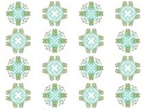 Seamless texture with 3D rendering abstract fractal green pattern Stock Image