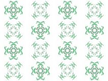 Seamless texture with 3D rendering abstract fractal green pattern Stock Photography