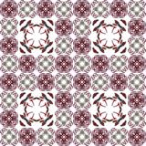 Seamless texture with 3D rendering abstract fractal maroon pattern Royalty Free Stock Photos