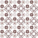 Seamless texture with 3D rendering abstract fractal maroon pattern. On a white background for fabric design Royalty Free Stock Photo
