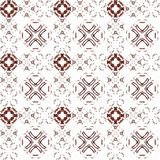 Seamless texture with 3D rendering abstract fractal maroon pattern. On a white background for fabric design Stock Photography