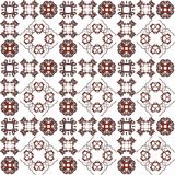 Seamless texture with 3D rendering abstract fractal maroon pattern. On a white background for fabric design Royalty Free Stock Image