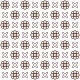 Seamless texture with 3D rendering abstract fractal maroon pattern. On a white background for fabric design Stock Image