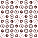 Seamless texture with 3D rendering abstract fractal maroon pattern. On a white background for fabric design Royalty Free Stock Photography