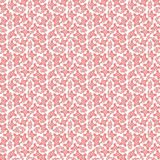Seamless texture with 3D rendering abstract fractal pink mosaic pattern. On a white background for fabric design Stock Image
