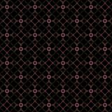 Seamless texture with 3D rendering abstract fractal pink pattern. On a black background for fabric design Royalty Free Stock Image