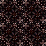 Seamless texture with 3D rendering abstract fractal pink pattern. On a black background for fabric design Stock Photos