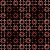 Seamless texture with 3D rendering abstract fractal pink pattern. On a black background for fabric design Royalty Free Stock Photo