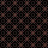 Seamless texture with 3D rendering abstract fractal pink pattern. On a black background for fabric design Stock Photography
