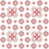 Seamless texture with 3D rendering abstract fractal pink pattern. On a white background for fabric design Stock Images