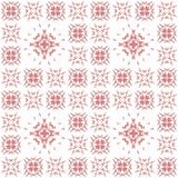 Seamless texture with 3D rendering abstract fractal pink pattern. On a white background for fabric design Stock Image
