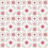 Seamless texture with 3D rendering abstract fractal pink pattern. On a white background for fabric design Stock Photo