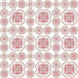 Seamless texture with 3D rendering abstract fractal pink pattern. On a white background for fabric design Stock Photography
