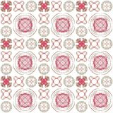 Seamless texture with 3D rendering abstract fractal pink pattern. On a white background for fabric design Royalty Free Stock Photo