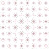 Seamless texture with 3D rendering abstract fractal pink pattern. On a white background for fabric design Royalty Free Stock Photography