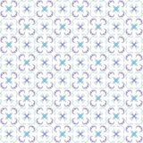 Seamless texture with 3D rendering abstract fractal purple blue pattern. On a white background for fabric design Stock Photography